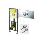 [product_id], Инсталляция для подвесного унитаза Viega Eco Plus 660321 (хром глянец), , 14 080 руб., Viega Eco Plus 660321, Viega, Для унитаза