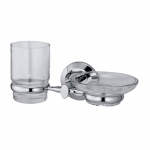 [product_id], Держатель стакана и мыльницы Wasser Kraft Rhein K-6226, 4051, 1 370 руб., K-6226, Wasser Kraft, Подстаканник
