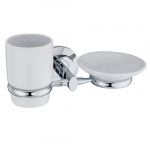 [product_id], Держатель стакана и мыльницы Wasser Kraft Rhein K-6226C, 4052, 1 510 руб., K-6226C, Wasser Kraft, Подстаканник