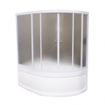 [product_id], Душевая шторка на ванну 1-MarKа 160100 160х100 (белая, хром), 3262, 13 500 руб., Imago, 1-MarKa, Шторки для ванн