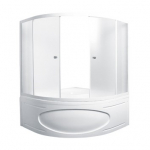 [product_id], Душевая шторка на ванну 1-MarKа 140140 140х140 (белая, хром), 3263, 10 100 руб., MarylinTrapani, 1-MarKa, Шторки для ванн