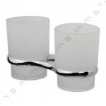 [product_id], Двойной стеклянный стакан Am - Pm Bourgeois A65343400 (хром), 8662, 1 380 руб., Am - Pm Bourgeois, Am - Pm, Стакан