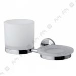 [product_id], Стеклянный стакан и мыльница Am - Pm Serenity A40344200 (хром), 8715, 3 760 руб., Am - Pm Serenity, Am - Pm, Стакан