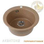 [product_id], Кухонная мойка Акватон Иверия (терракотовая), 8106, 3 628 руб., Иверия, Акватон, Кухонные мойки