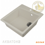 [product_id], Кухонная мойка Акватон Парма (белая), 8132, 4 149 руб., Парма, Акватон, Кухонные мойки