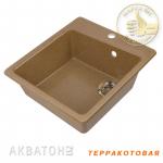 [product_id], Кухонная мойка Акватон Парма (терракотовая), 8138, 4 149 руб., Парма, Акватон, Кухонные мойки