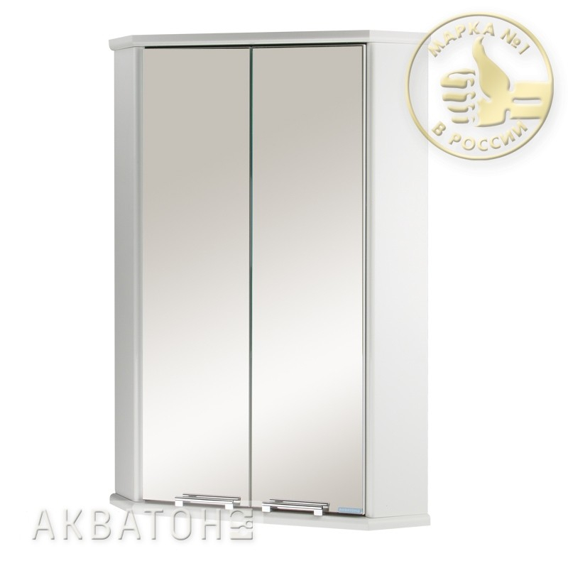Зеркало-шкаф акватон призма 2м двустворчатый купить со скидк.