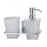 [product_id], Держатель дозатора и стакана Wasser Kraft Leine К-5089, , 2 000 руб., К-5089, Wasser Kraft, Диспенсер жидкого мыла