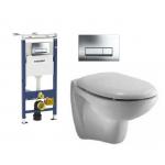 [product_id], Комплект инсталляция Geberit Duofix 458.125.21.1 и унитаз Ideal Standard Oceane W707301 (дюропластовое сиденье), , 20 200 руб., Ideal Standard Oceane, Ideal Standard, Комплекты (инсталляция+унитаз)