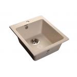 [product_id], Мойка кухонная GranFest Practic (P-505 бел) белый, , 4 100 руб., Practic (P-505 бел) белый, GranFest, Кухонные мойки