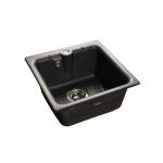 [product_id], Мойка кухонная GranFest Practic (P-420) черный, , 3 600 руб., Practic (P-420 ) черный, GranFest, Кухонные мойки