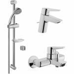 [product_id], Комплект смесителей Vitra Solid S A49227EXP Хром, , 10 100 руб., Solid S A49227EXP Хром, Vitra, Комплекты смесителей для ванной комнаты