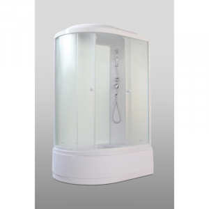 Душевая кабина Parly Bianco Эконом EB122R 120х215 профиль Белый стекло матовое