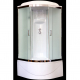 Душевая кабина Royal Bath НК RB90HK1-T-CH 90x90 стекло прозрачное задняя стенка Белая