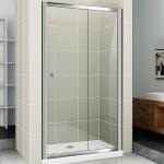 [product_id], Душевая дверь в нишу Cezares Pratico BF-1 155 профиль Хром стекло прозрачное, , 23 000 руб., Pratico BF-1 155, Cezares, Двери для душа