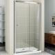 Душевая дверь в нишу Cezares Pratico BF-1 155 профиль Хром стекло прозрачное