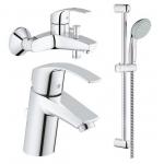 [product_id], Комплект смесителей для ванной комнаты Grohe Eurosmart 124446, , 12 100 руб., Grohe Eurosmart 124446, Grohe, Комплекты смесителей для ванной комнаты