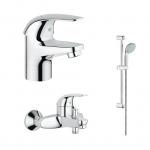[product_id], Комплект смесителей Grohe Euroeco 124428, , 10 250 руб., Euroeco 124428, Grohe, Комплекты смесителей для ванной комнаты