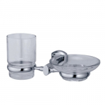 [product_id], Держатель стакана и мыльницы Wasser Kraft Oder K-3026, 4084, 1 470 руб., K-3026, Wasser Kraft, Подстаканник