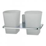 [product_id], Подстаканник стеклянный двойной Wasser Kraft Leine К-5028D, 4100, 1 630 руб., К-5028D, Wasser Kraft, Подстаканник