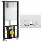 [product_id], Инсталляция для подвесного унитаза Vitra (700-1873) с кнопкой смыва (740-0480) хром, , 9 990 руб., (700-1873) с кнопкой смыва (740-0480), Vitra, Для унитаза