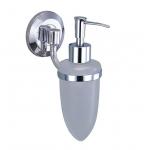 [product_id], Дозатор для жидкого мыла стеклянный Wasser Kraft Rhein K-6299, 4049, 1 230 руб., K-6299, Wasser Kraft, Диспенсер жидкого мыла