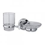 [product_id], Держатель стакана и мыльницы Wasser Kraft Rhein K-6226, 4051, 1 710 руб., K-6226, Wasser Kraft, Подстаканник