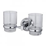 [product_id], Подстаканник двойной стеклянный Wasser Kraft Rhein K-6228D, 4057, 1 490 руб., K-6228D, Wasser Kraft, Подстаканник