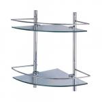 [product_id], Полка стеклянная двойная угловая Wasser Kraft K-3122, 4163, 4 600 руб., K-3122, Wasser Kraft, Стеклянная полка