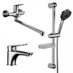 """[product_id], Комплект смесителей Lemark Set LM7302C для ванной 3 в 1, , 9 760 руб., Lemark Set LM7302C для ванной """"3 в 1"""", Lemark, Комплекты смесителей для ванной комнаты"""
