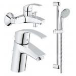 [product_id], Комплект  смесителей для ванной Grohe EuroSmart 123570, , 10 300 руб., EuroSmart 123570, Grohe, Комплекты смесителей для ванной комнаты