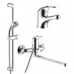 [product_id], Набор смесителей Rossinka SET35-81, , 6 190 руб., SET35-81, Rossinka, Комплекты смесителей для ванной комнаты