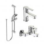 [product_id], Комплект для ванны Vidima Uno (BA376AA), , 7 340 руб., Vidima Uno (BA376AA), Vidima, Комплекты смесителей для ванной комнаты