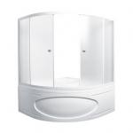 [product_id], Душевая шторка на ванну 1-MarKа 150150 150х150 (белая, хром), 3259, 11 770 руб., Afrodita, 1-MarKa, Шторки для ванн