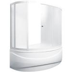[product_id], Душевая шторка на ванну 1-MarKа 150100 150х100 (белая, хром), 3260, 14 410 руб., Catania, 1-MarKa, Шторки для ванн