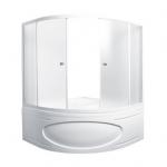 [product_id], Душевая шторка на ванну 1-MarKа 140140 140х140 (белая, хром), 3263, 11 110 руб., MarylinTrapani, 1-MarKa, Шторки для ванн
