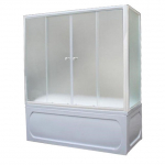 [product_id], Душевая шторка на ванну 1-MarKа 150140 150х140 (белая, хром), 3264, 8 580 руб., 150x140 белая, хром, 1-MarKa, Шторки для ванн