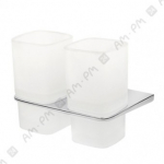 [product_id], Двойной стеклянный стакан Am - Pm Inspire A50343400 (хром), 8687, 3 790 руб., Am - Pm Inspire, Am - Pm, Стакан