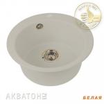 [product_id], Кухонная мойка Акватон Иверия (белая), 8100, 4 000 руб., Иверия, Акватон, Кухонные мойки