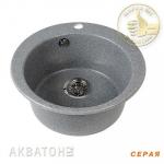 [product_id], Кухонная мойка Акватон Иверия (серая), 8104, 4 000 руб., Иверия, Акватон, Кухонные мойки