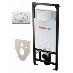 [product_id], Инсталляция для подвесного унитаза AlcaPlast Sadromodul A101/1200+М070 (клавиша белая), , 6 800 руб., AlcaPlast Sadromodul, AlcaPlast, Для унитаза