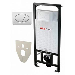 Инсталляция для подвесного унитаза AlcaPlast Sadromodul A101/1200+М070 (клавиша белая)