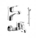 [product_id], Комплект смесителей для ванной комнаты Bravat Eco F00307C/00313С, , 13 480 руб., Bravat Eco F00307C/00313С, Bravat, Комплекты смесителей для ванной комнаты