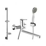 [product_id], Комплект для ванной комнаты Bravat Eco F00408C/00414С, , 10 520 руб., Bravat Eco F00408C/00414С, Bravat, Комплекты смесителей для ванной комнаты