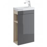 [product_id], Тумба Cersanit Smart 40 P-SU-SMA-CO40/Gr 40 см. (серый-ясень, раковина Cersanit Como 40), , 4 699 руб., Cersanit Smart, Cersanit, Комплекты