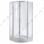 Душевой уголок Ам - Рм Sense 90 ( профиль белый, стекло прозрачное )