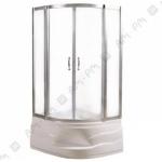 [product_id], Душевой уголок Ам - Рм Sense deep 90 (профиль матовый хром, стекло прозрачное), , 19 250 руб., Ам - Рм Sense, Am - Pm, Душевые уголки
