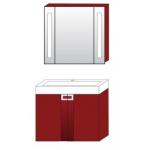 Комплект мебели Edelform Поинт 80 ( бриллиантово - красный )