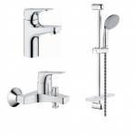 [product_id], Комплект смесителей для ванной комнаты Grohe  BauFlow 121624, , 11 830 руб., Grohe BauFlow 121624, Grohe, Комплекты смесителей для ванной комнаты