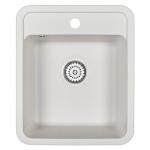 [product_id], Кухонная мойка Granula Standard Рэндом ST-4202 Белый (420х500 мм), , 3 220 руб., ST-4202 Белый, Granula, Кухонные мойки